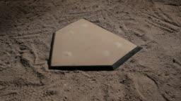 Baseball bat tapping home base