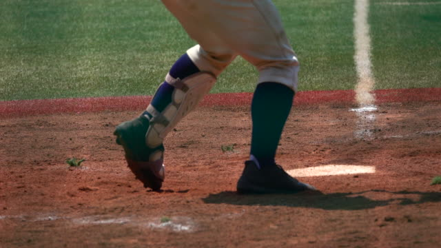 baseball batter from behind - baseball sport stock videos & royalty-free footage