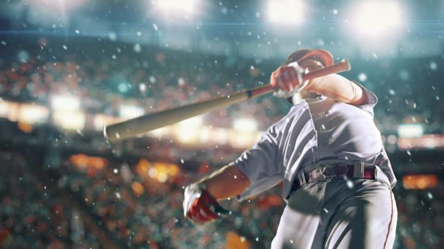 Baseball smeten att slå bollen under spel