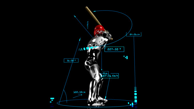 3 d baseball ausbackteig mann mit technische daten - baseballmütze stock-videos und b-roll-filmmaterial