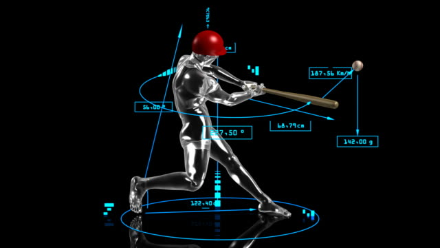 3d baseball batter - batting stock videos & royalty-free footage