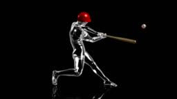 3D baseball batter