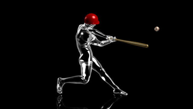 3d baseball batter - swing stock videos and b-roll footage