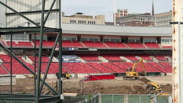 ws baseball field under construction / buffalo, new york, usa - buffalo new york state stock videos & royalty-free footage