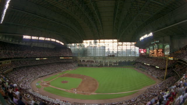 HA  TIME LAPSE baseball game at Minute Maid Park  night  Houston Texas  USA