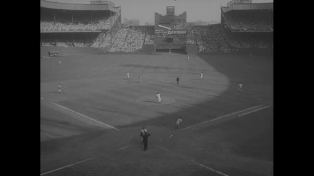 baseball game at new york city's polo grounds / 2-shot giants player willie mays with team manager leo durocher / mays, in street clothes, signs... - inning stock videos & royalty-free footage