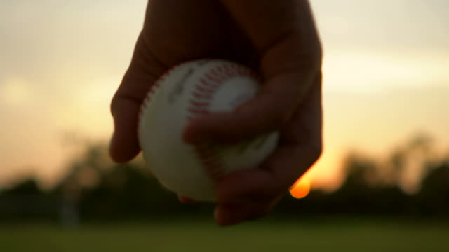 baseball game from grass - hitting stock videos & royalty-free footage