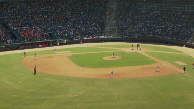 t/l ws ha baseball game / havana, cuba - inning stock videos & royalty-free footage