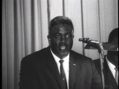 baseball hall of famer jackie robinson addresses the audience of the 1962 mississippi state conference of the naacp. - music or celebrities or fashion or film industry or film premiere or youth culture or novelty item or vacations stock videos & royalty-free footage