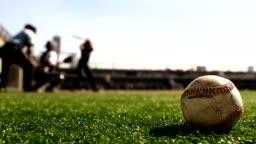 Baseball Hit - Batter Hitting Ball in Slow Motion