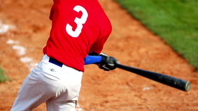 SLO MO Baseball Hitter In Action
