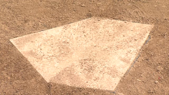 Baseball Home Plate on August 19 2013 in Chicago Illinois