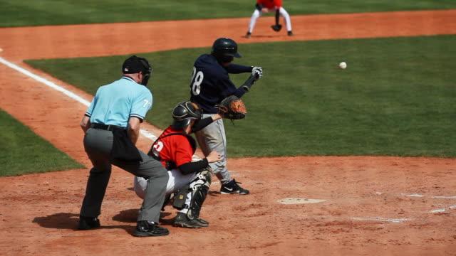 baseball junior match infield scene - batting sports activity stock videos and b-roll footage