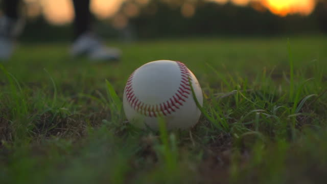 stockvideo's en b-roll-footage met honkballer - honkbal teamsport