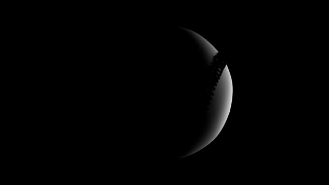 baseball rotation loop on black bg bgg1