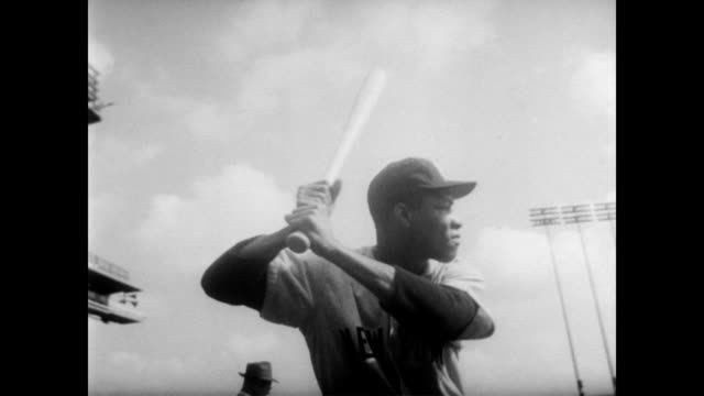 / baseball stadium is decorated for the game between milwaukee braves and the new york yankees / inside the crowded stadium / game played with... - 1957 stock videos & royalty-free footage
