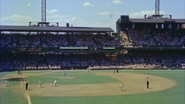 ws baseball stadium / washington d.c., united states - スタンド席点の映像素材/bロール