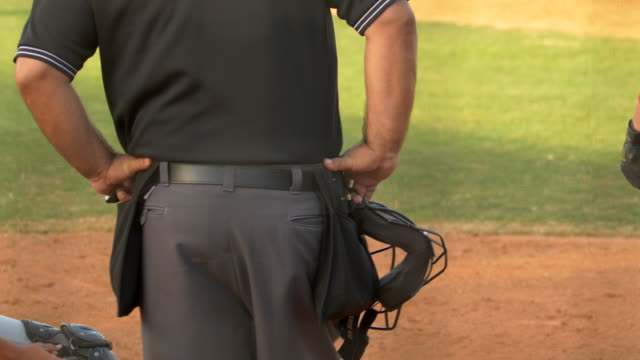 baseball umpire and players make a play at a game. - number 7 stock videos & royalty-free footage
