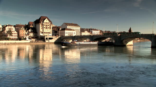 basel - rhein stock-videos und b-roll-filmmaterial