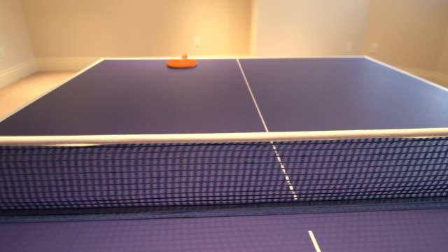 basement ping pong - table tennis bat stock videos & royalty-free footage