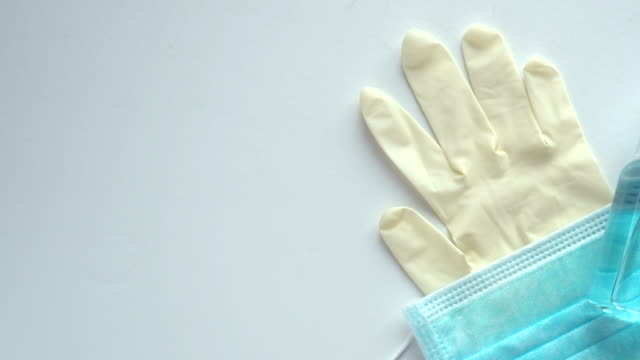 basic of material for protection the virus - latex glove stock videos & royalty-free footage