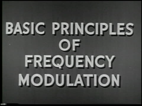 vídeos de stock e filmes b-roll de basic principles of frequency modulation - 1 of 28 - veja outros clipes desta filmagem 2096