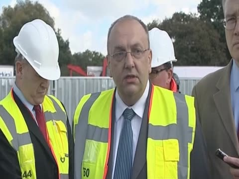 basildon council leader tony ball on the eviction of the travellers from dale farm essex - デールファーム点の映像素材/bロール