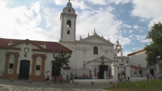 ws t/l basilica de nuestra senora del pilar / recoleta, buenos aires, argentina - argentina stock videos & royalty-free footage
