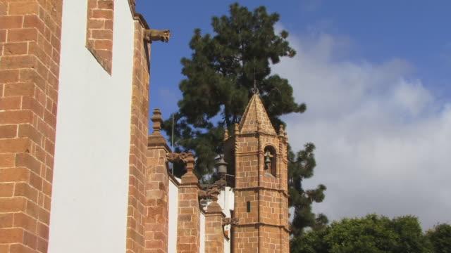 cu, zo, basilica de nuestra senora del pino, teror, gran canaria, canary islands, spain - 17th century style stock videos & royalty-free footage