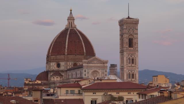 basilica di santa maria del fiore otherwise known as the duomo in florence, tuscany, italy. - duomo santa maria del fiore stock videos and b-roll footage