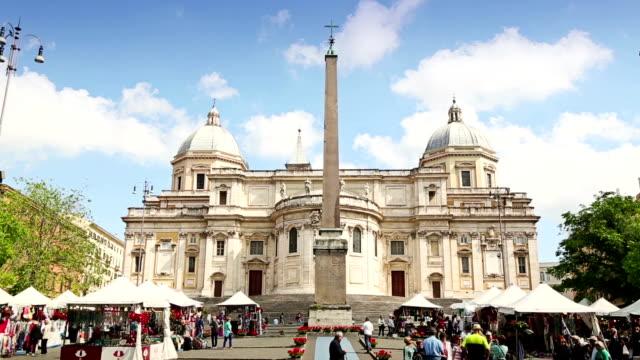 stockvideo's en b-roll-footage met basilica di santa maria maggiore in rome, italy - basiliek