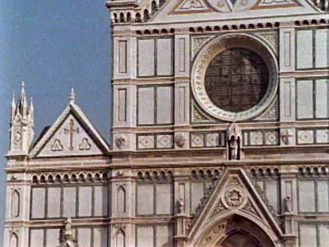 basilica of santa croce - circa 14th century stock videos & royalty-free footage