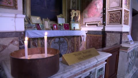 basilica of st. bartholomew in rome - side chapel - antiquities stock videos & royalty-free footage
