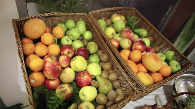 basket full of fruit - fruit bowl stock videos & royalty-free footage