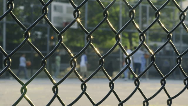basketball abstract - chainlink fence stock videos and b-roll footage