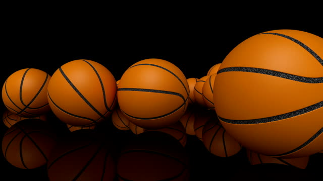hd : basketball animation. - luma matte stock videos & royalty-free footage