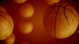 Basketball ball rotating and transition with luma matte alpha channel - seamless loop - stock video