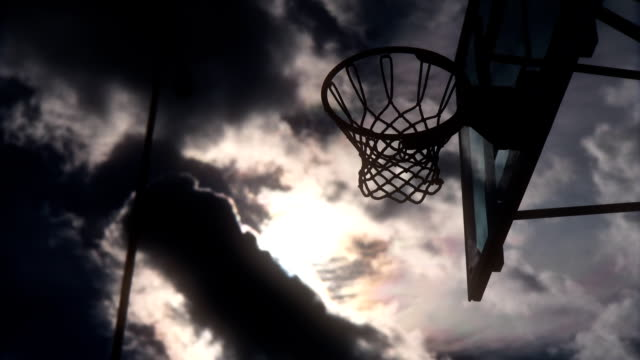 Basketball basket against the sky