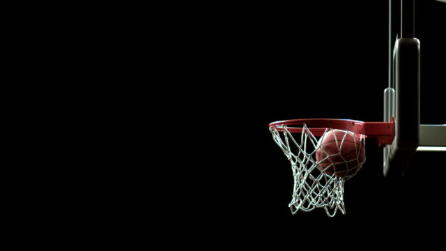sm ms basketball being thrown through air into net/ auckland, new zealand - basketball stock-videos und b-roll-filmmaterial