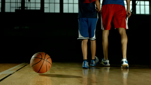 hd dolly: basketball bouncing off the floor - bouncing stock videos & royalty-free footage