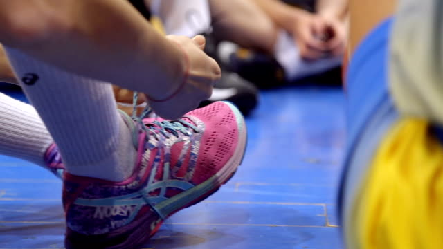 basketball clothing and shoes - shoelace stock videos and b-roll footage