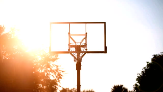 basketball falling in hoop - basket stock videos & royalty-free footage
