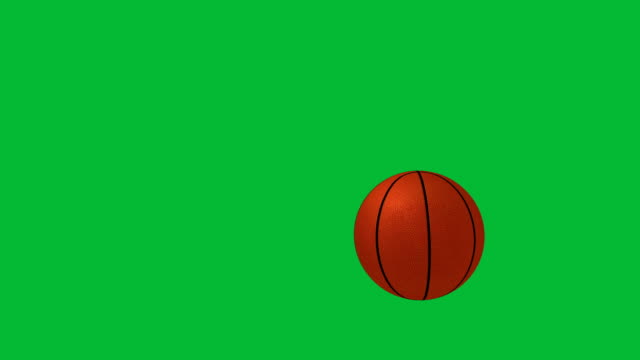 basketball falling on green chroma key background - bouncing stock videos & royalty-free footage
