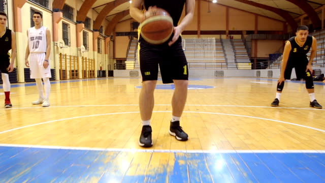 basketball free throw - dribbling stock videos & royalty-free footage