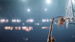 Basketball game moment