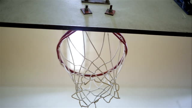 basketball going through a net - shooting baskets stock videos and b-roll footage