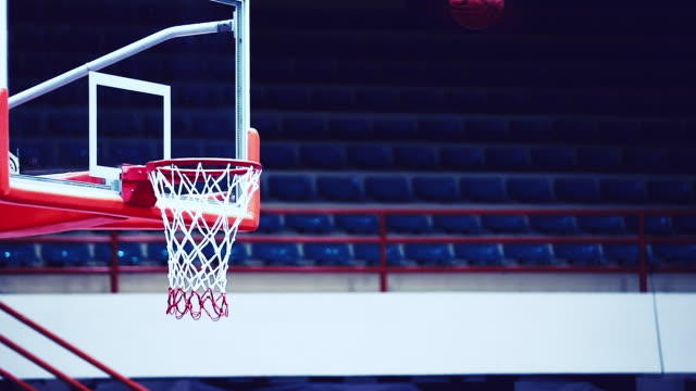 basketball into hoop, slow motion - taking a shot sport stock videos & royalty-free footage