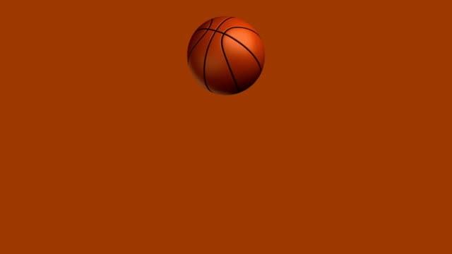 Basketball-jumping loop, isoliert mit luma matte zg
