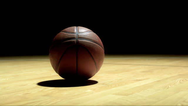 basketball laying on the floor - basketball stock videos and b-roll footage