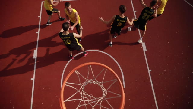 basketball match on court - tall person stock videos and b-roll footage